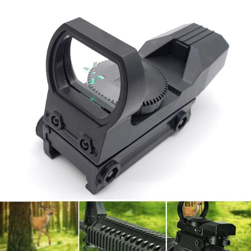 Yeni sıcak 20mm raylı tüfek avcılık optik holografik kırmızı nokta görüşü refleks 4 Reticle taktik kapsam av silahı aksesuarları