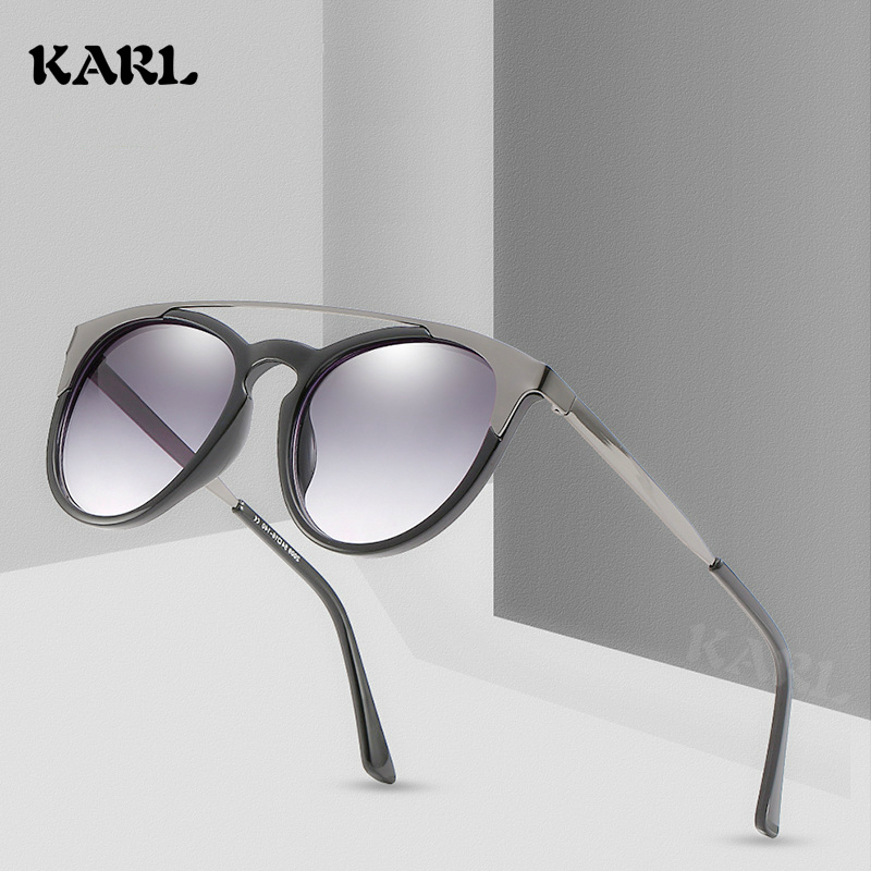 Gothic Sunglasses Women Transparent Round Sunglass Vintage Shades Elegant Ladies Sunglases Luxury Brand 2019 Trending Glasses