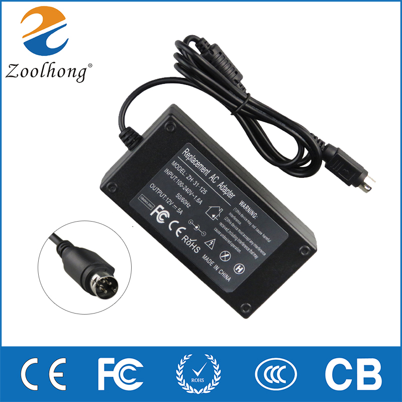 12V 5A 4-Pin AC Adapter For Sanyo CLT1554 CLT2054 LCD TV Power Supply Charger