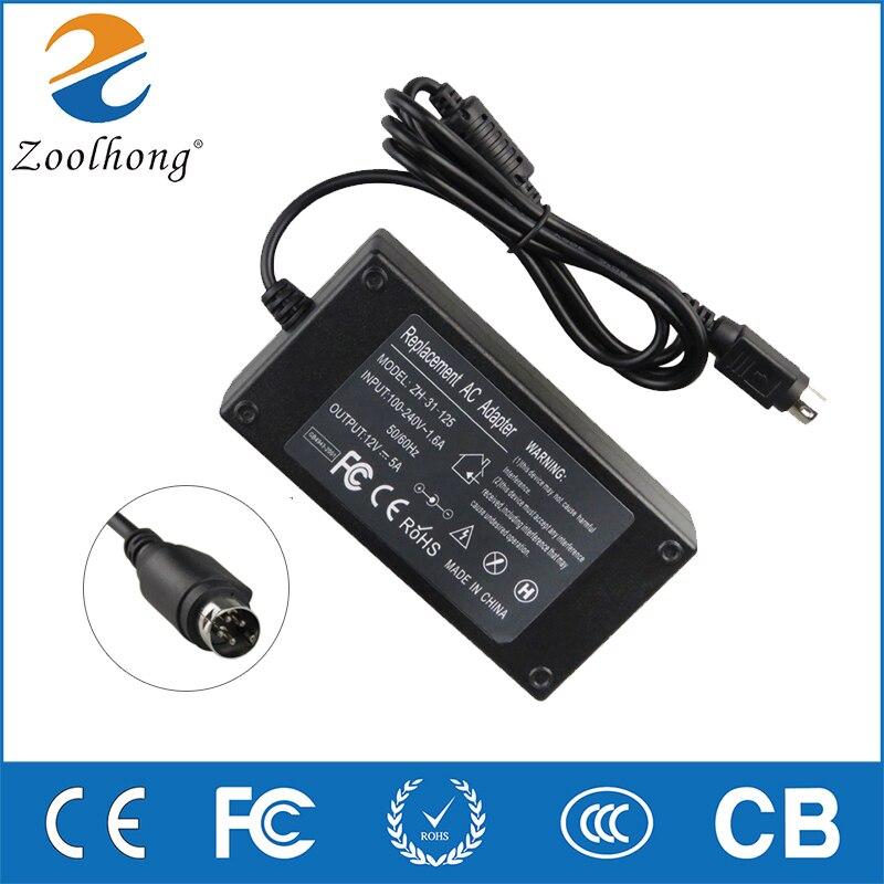 """Pour Sanyo CLT1554 CLT2054 20 """"LCD TV moniteur chargeur de batterie d'ordinateur portable/adaptateur secteur 12V 4A 5A 60W 4 broches 4 broches 4Pin"""