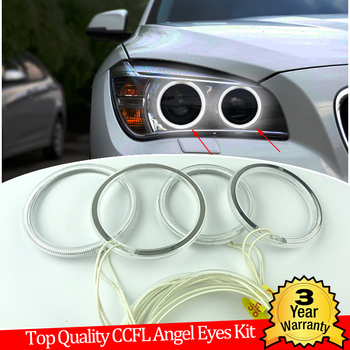 Hight Quality CCFL Angel Eyes Kit Warm White Halo Ring For BMW X1 E84 2009-2015 Xenon headlight Demon Eye image