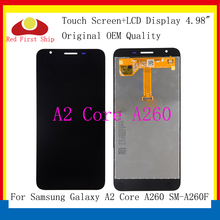 10Pcs/lot Original LCD For Samsung Galaxy A2 Core LCD Display Touch Screen Digitizer Assembly For Samsung A2 Core A260 lcd 10pcs lot for samsung galaxy express i8730 lcd display touch screen digitizer without frame grey white color free dhl ems