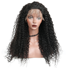 250% 密度13X4レースフロント人毛ウィッグ女性ブラジルディープウェーブレースかつら事前摘み取らベビー髪がのremy毛