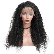 250% densidade 13x4 frente do laço perucas de cabelo humano para as mulheres brasileiro onda profunda perucas do laço pré arrancado cabelo do bebê você pode remy cabelo
