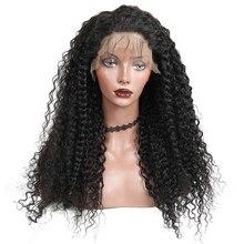 Pelucas de cabello humano con encaje frontal para mujer, densidad del 250%, ondas encaje pelucas profundas brasileñas, pelo de bebé prearrancado, cabello Remy