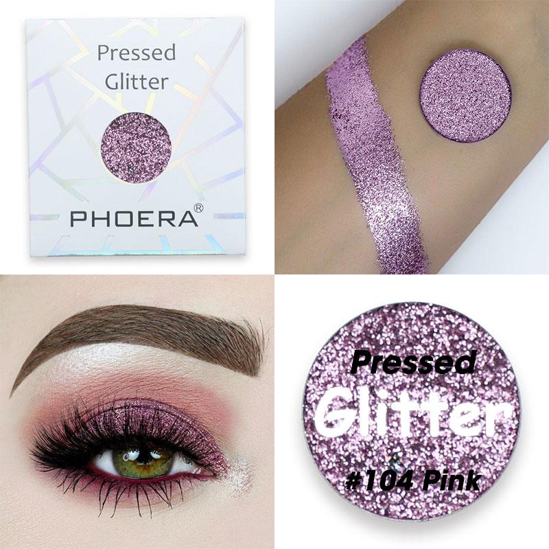 1 phoera brilhante pérola sombra glitter à prova dwaterproof água líquido sombra para os olhos maquiagem metálico longa duração cosméticos tslm1