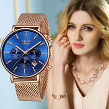 LIGE Womens Watches Fashion Stainless St