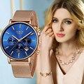 LIGE, женские часы, модные, нержавеющая сталь, водонепроницаемые, аналоговые, кварцевые часы для женщин, лучший бренд, Роскошные, повседневные,...