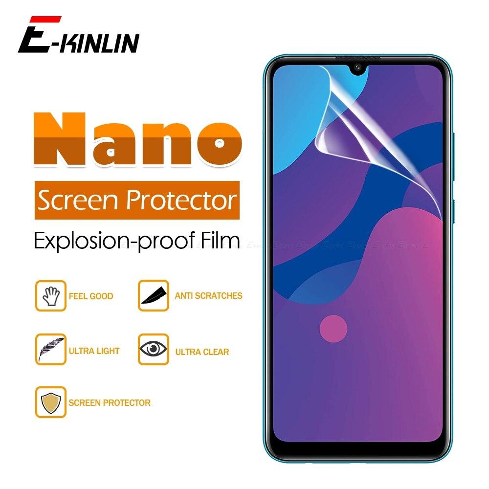 2 pièces/lot doux garde Anti Explosion Nano Film de protection pour Huawei Honor 8S 2020 Prime 8C 9C 9A clair brillant protecteur d'écran