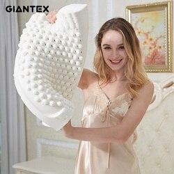Giantex látex travesseiro almofadas de massagem para dormir travesseiro ortopédico kussens oreiller almohada cervical poduszkap memória travesseiro