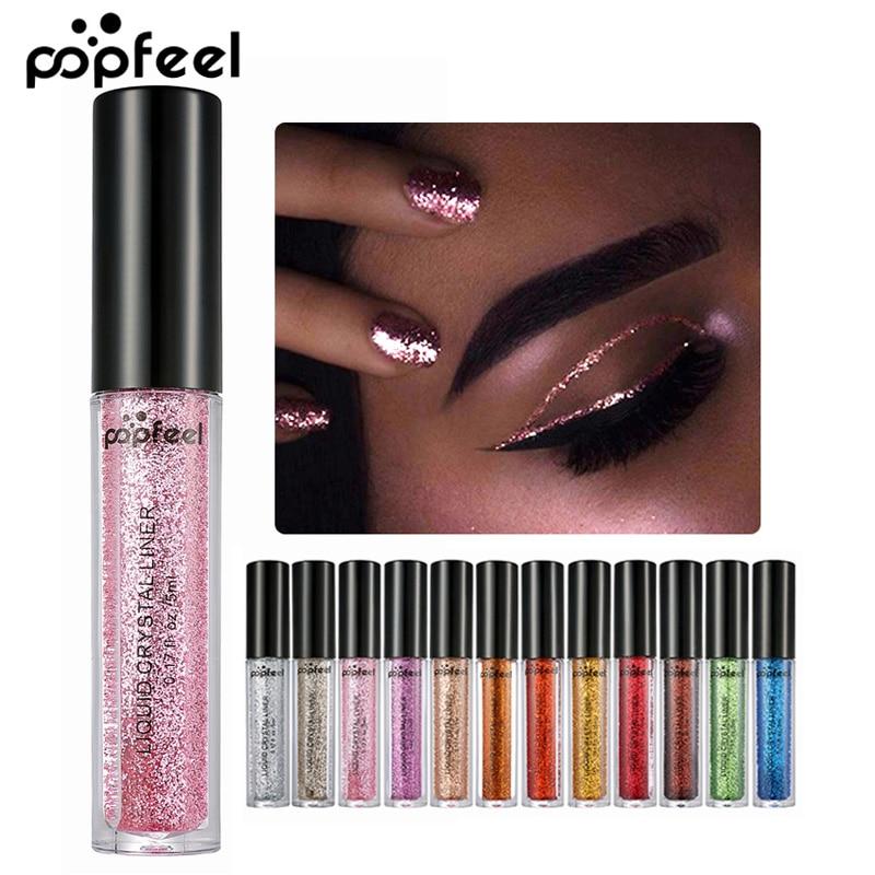 Eyes Makeup Glitter & Shimmer Liquid Diamond Make up Pearly Shinning Cream for Eye Shadow Eyeliner Long-lasting Eye Liner Shadow