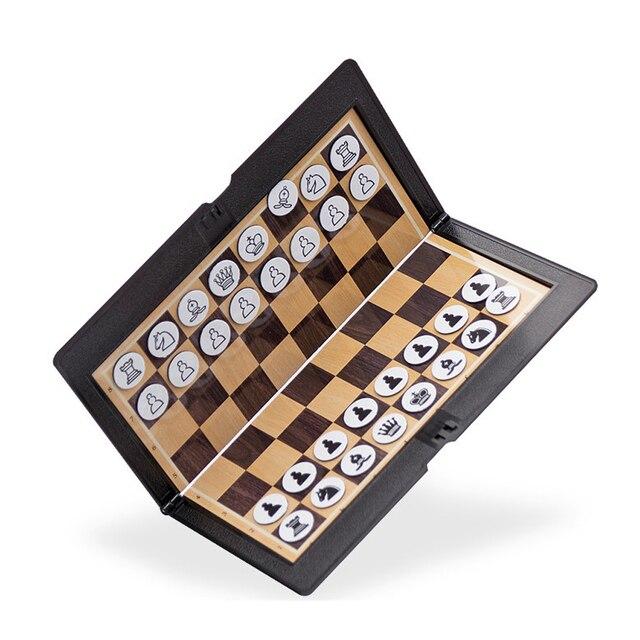 Mini jeu d'échecs de portefeuille magnétique  pour étudiant et voyageur passionné d'échec 3