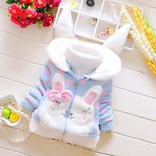 Fashion Toddler Kids Baby Girl Coats Fleece Warm Thick Rabbit Ears Hooded Coat Outwear H0916 недорого