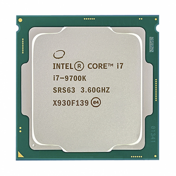 Intel Core i7-9700K i7 9700K 8 Cores 8 threads up to 3.6 GHz 300 Series 95W Desktop Processor image