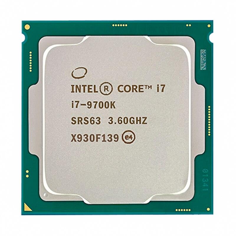 Intel Core i7-9700K i7 9700K 8 ליבות 8 אשכולות עד 3.6 GHz 300 סדרת 95W שולחן העבודה מעבד