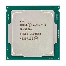 Intel core i7-9700K i7 9700 k 8 núcleos 8 threads até 3.6 ghz 300 series 95 w processador de mesa