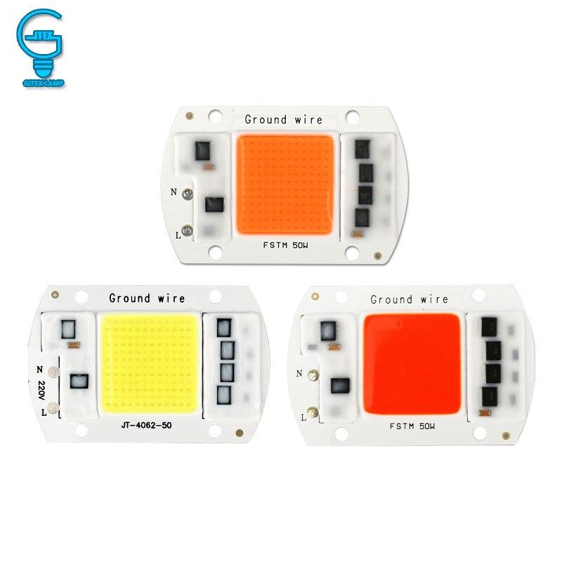COB Chip 10W 20W 30W 50W LED Chip Lamp 220V 240V No Need Driver For  Flood Light Spotlight Lampada DIY Lighting