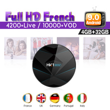 France IP TV SUBTV 1 Year IPTV Subscription HK1 MINI+ Android 9.0 4G+32G BT Dual-Band WIFI Italy Arabic