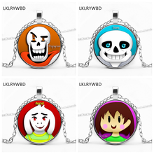 LKLRYWBD / Under the legend of game Undertale necklace round pendant jewelry