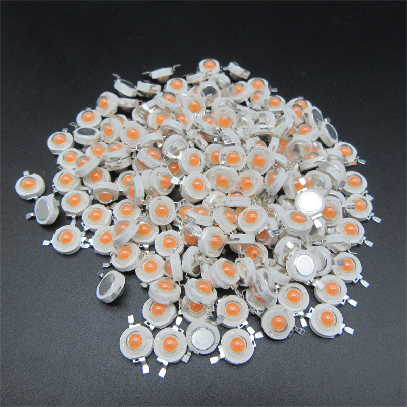 100pcs 1W LED 3W LED High Power LEDs Diodes Warm White Cold White Natural White RGB Red Green Blue Yellow Light Source