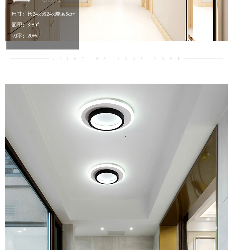 Haa9e5ebca7fc411fb7afb4522e28b45dO LICAN Modern LED Ceiling Lights for bedroom bedside Aisle corridor balcony Entrance Modern LED Ceiling Lamp for home
