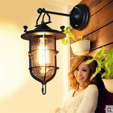 Vintage Wall Light Warehouse patio Loft Nordic Iron retro  Lamps Decorative Led Lights Candlle Bar