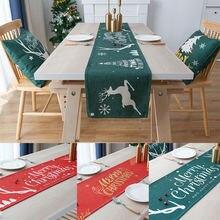 Рождественские настольные дорожки рождественские украшения скатерть