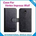 Чехол Vertex Impress с волком, 6 цветов, Кожаные чехлы-бумажники с откидной крышкой для Vertex Impress WolfCover, чехол для телефона, чехол для кредитных карт