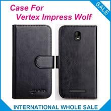 Vertex Impress Wolf Case 6 Colors Flip Slots Leather Wallet Cases For Vertex Impress WolfCover Slots Phone Bag Credit Card