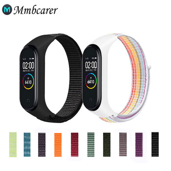 Nylon Strap For Xiaomi Mi Band 4 3 5 6 Bracelet Wristband Sports Breathable Bracelet For Miband 6 5 4 3 Replacement Strap 1