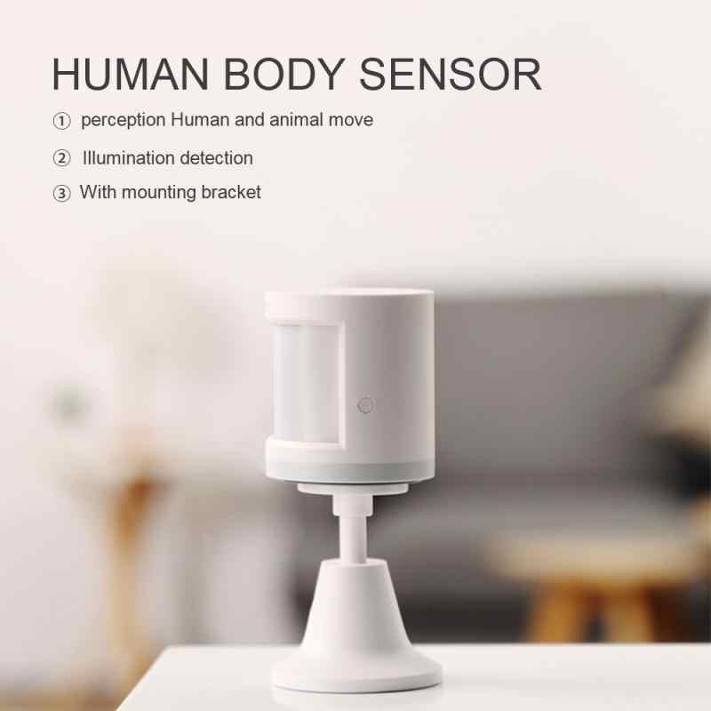 Aqara İnsan vücudu sensörü akıllı vücut hareketi hareket sensörü Zigbee bağlantı tutucu çalışma için Mihome App desteği Homekit