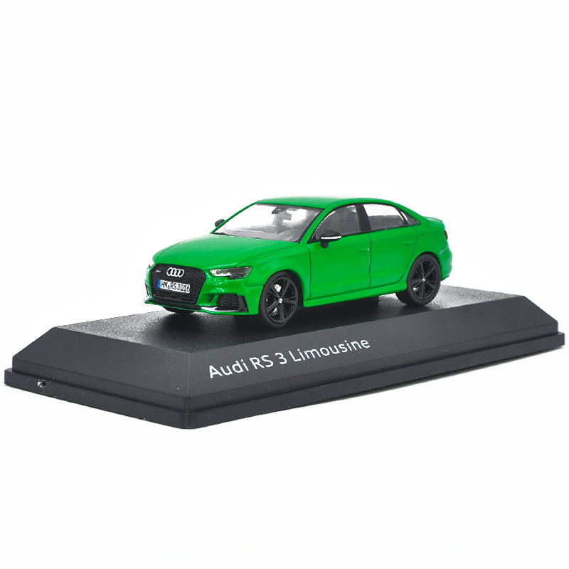 1:43 Diecast Model For Audi RS3 Limousine 2016 Green Alloy Toy Car Miniature Collection Gifts