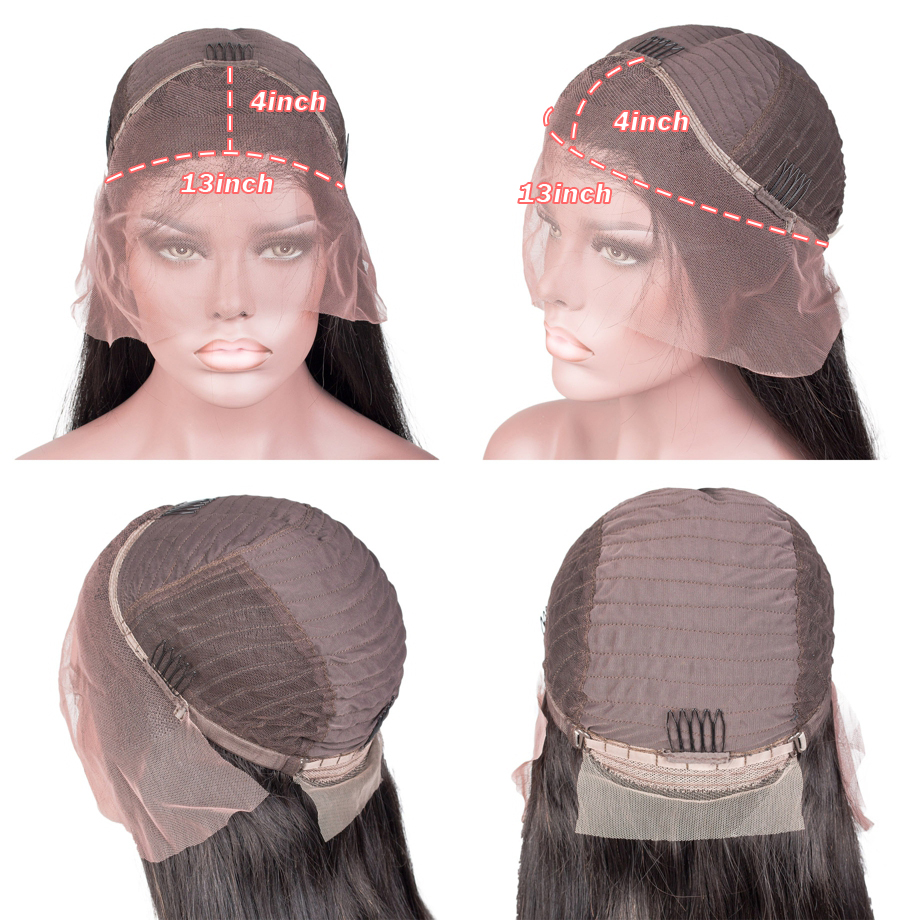 13x4 Straight Lace Front Wig Human Hair 30 Inch Full Hd Transparent - health-beauty
