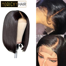 Morichy 4X4 Closure Wig Brazilian Straight Lace Closure Human Hair Wigs Pre Plucked with Baby Hair Non Remy Wigs 150 Density ross pretty remy hair kim k closure 2 6 brazilian straight hair lace closure human hair pre plucked with baby hair