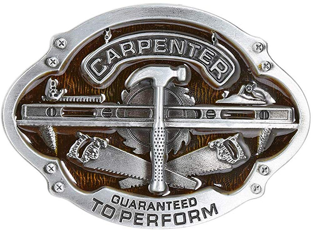 Carpnter Tool Belt  Buckle For Man Western Cowboy Buckle Without Belt Custom Alloy Width 4cm