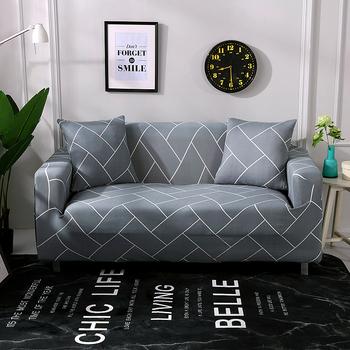 Sofa Slipcover tanie i dobre opinie coolazy 90-140cm 145-185cm 195-230cm 235-300cm Rozkładana okładka Drukowane Nowoczesne Geometryczne Trzy-seat sofa 100 poliester