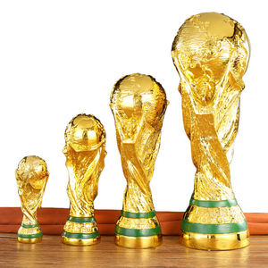 Decoration Football Award Trophy Sculpture World Hercules Cup Resin Crafts Home Decoration Accessories Modern Boy Birthday Gift