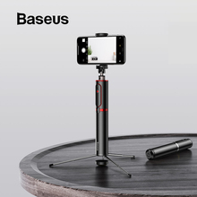 Baseus Bluetooth Selfie Stick Portable Handheld Smart Phone Camera Tripod with Wireless Remote For iPhone Samsung Huawei Android 100%original huawei honor bluetooth selfie stick tripod portable bluetooth3 0 monopod for iphone android huawei smart phone