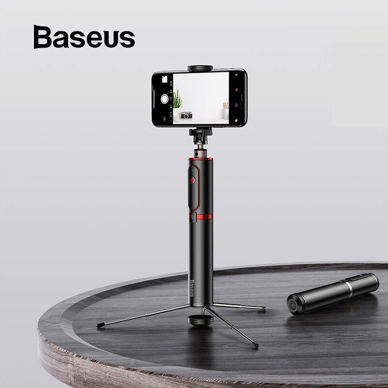 Baseus bluetooth selfie vara portátil handheld inteligente tripé de câmera do telefone com controle remoto sem fio para iphone samsung huawei android