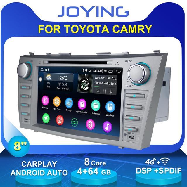 "8 ""2 DIN Android รถวิทยุสเตอริโอ GPS หน่วย CASSETTE สำหรับ Toyota Camry 2011 2007 มัลติมีเดียไม่มีดีวีดีพวงมาลัย OBD2"