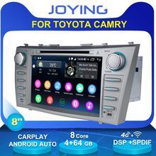 "8 ""2 Din Android Auto Radio Stereo Gps Head Unit Cassette Voor Toyota Camry 2011 2007 Multimedia Geen dvd speler Stuurwiel OBD2"