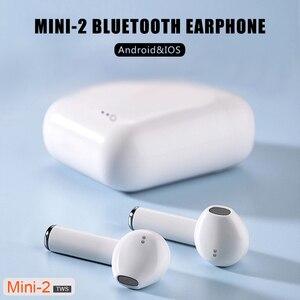 Image 2 - Mini 2 TWS wireless headset Bluetooth 5.0 headset TWS earplug with charging box headset sports wireless headset