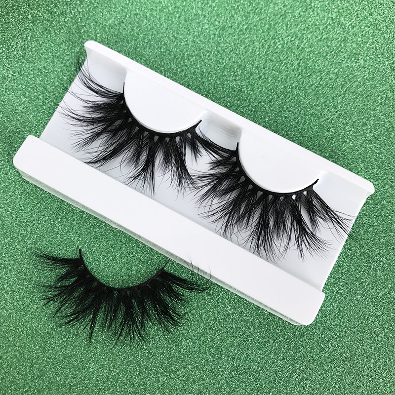 Mikiwi 25mm Long 3D Mink Lashes E02 Extra Length Fluffy Mink Eyelashes Big Dramatic Volumn Eyelashes Strip Thick False Eyelash