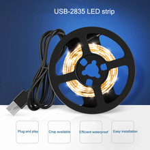LED Lamp With 2835 SMD USB Waterproof Staircase Cabinet Lighting Background Wall Decoration Soft Light Strip