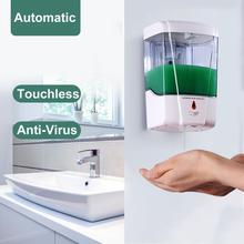 700ml Touchless Bathroom Dispenser Smart Sensor Liquid Soap Dispenser for Kitchen Hand Free Automatic Soap Dispenser for kitchen automatic soap dispenser touchless bathroom foam liquid dispenser smart sensor hand washer soap dispenser