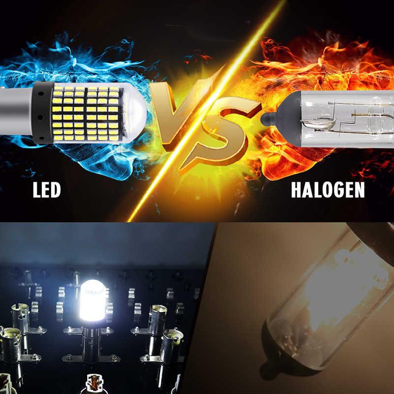 Hlxg 4X P21W Bay15d 1156 BA15S P21W Đèn LED Xe Hơi Ô Tô Trang Trí Nội Thất Đỗ Xe Ngược Trở Lại Phanh Đèn 33 SMD DC Màu Trắng nhan Bóng Đèn