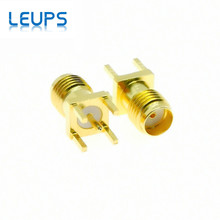 100PCS SMA Female Jack PCB Straight Mount RF Connector Receptacle Solder Gold plated