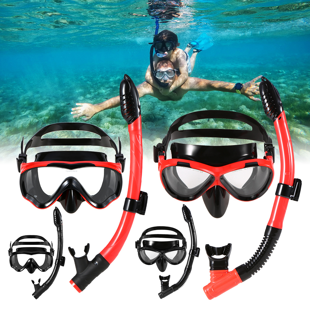 Lixada Mask For Diving Adult Children Swimming Mask Snorkeling Googles Scuba Diving Face Mask Water Sports Outdoor Equipment