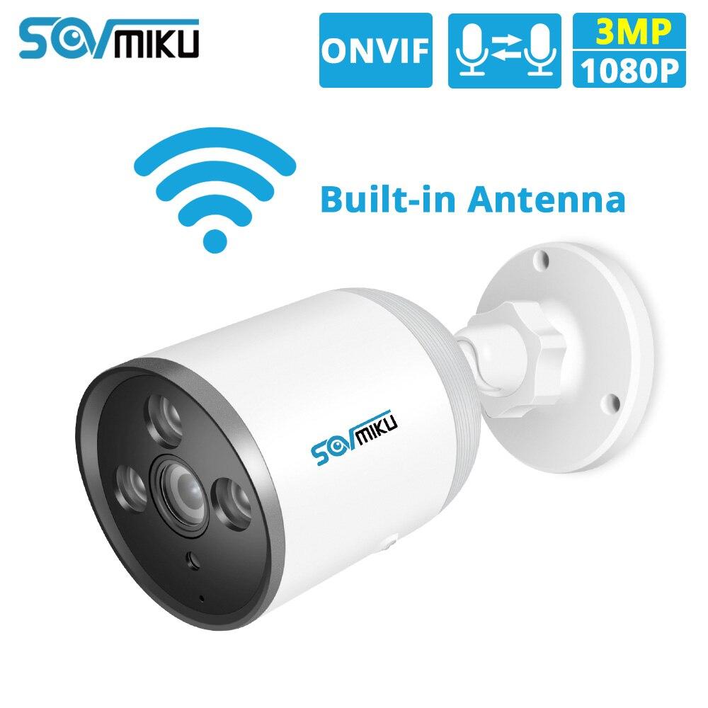 HD 1536P 1080P 720P WIFI IP Camera Bullet ONVIF Outdoor Waterproof CCTV Security Camera 3MP Two Way Audio APP Remote TF Card