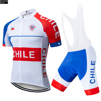 2019 Outdoor Sport Team Cycling Jersey Set CHILE Pro Ropa Ciclismo Maillot MTB Bicycle Bike Clothing Cycle Clothes Sets 16D